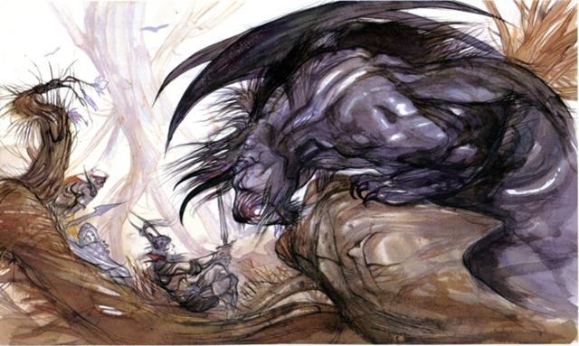 Behemoth_FF1_Amano